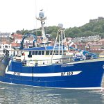 The Fraserburgh twin-rig trawler Ocean Vision leaving Scarborough harbour for the Silver Pits. (Mick Bayes)