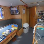 The new galley and messdeck.