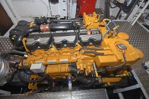 The Caterpillar C18 ACERT engine delivers 357kW @ 1,800rpm.