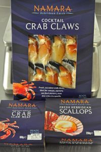 Some of the products that Kallin Shellfish markets through the Namara Hebridean Catch brand.