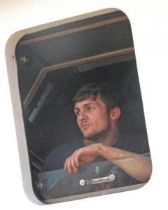 The next generation: Drew McLeod's son Robert at the wheelhouse window.