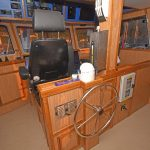 White Eagle's spacious and well-finished wheelhouse.