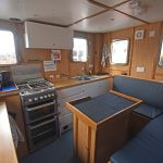 The galley and messdeck are arranged in the aft section of the deckhouse.