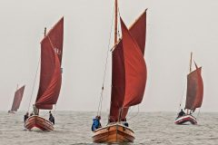 The sailing cobles Free Spirit, Madeleine Isabella, Gansey Lass and Gratitude.