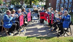 Swineshead Silver Band played.