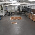 General view of Carvela's extensive main deck...