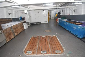 Looking aft on the main deck.