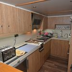 … and the galley on the main deck.
