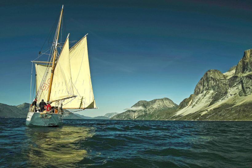 Ireland's oldest sail trading ketch follows wild Atlantic salmon route to Greenland (Photo: Tony Daly)