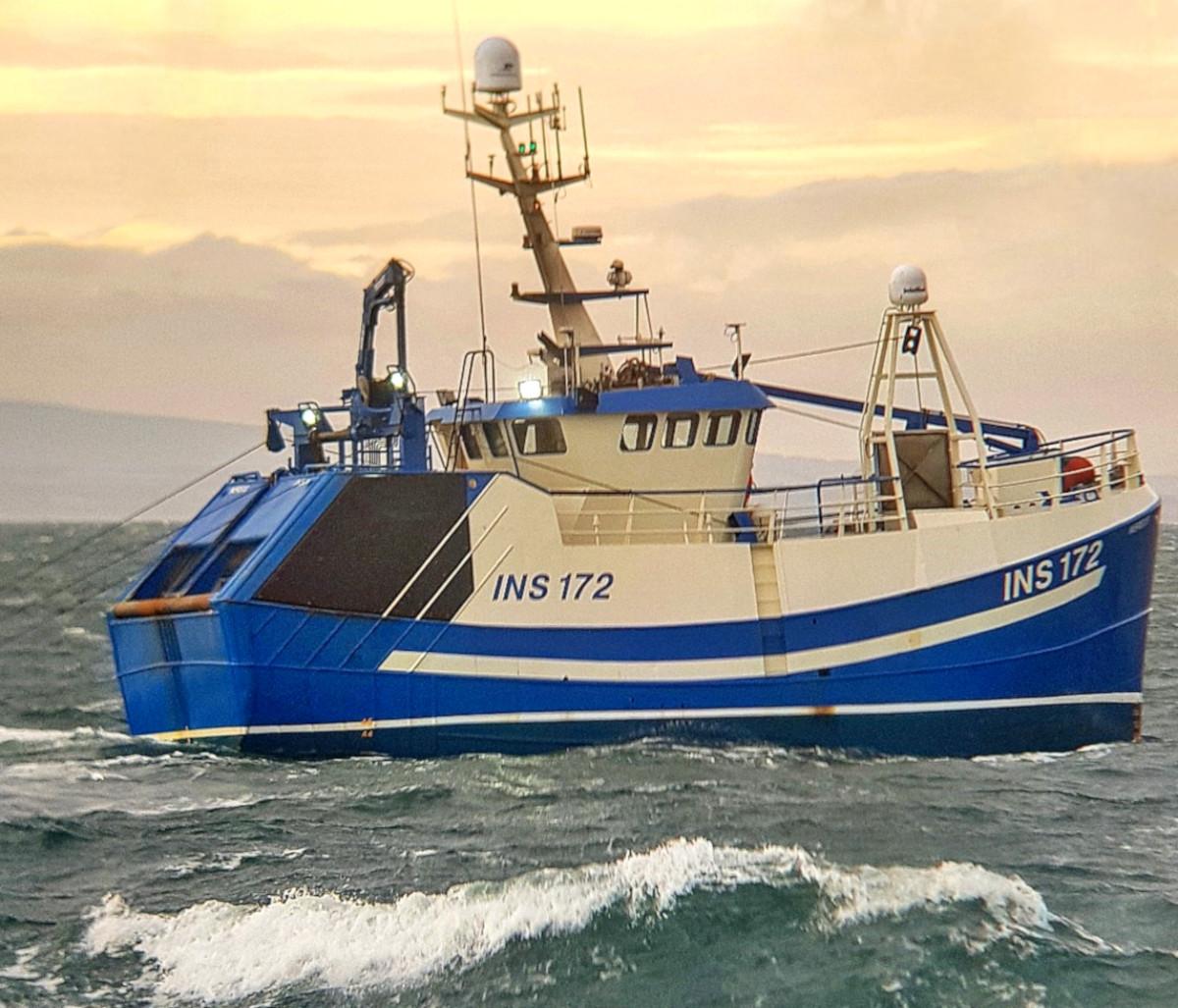The twin-rig prawn freezer trawler Nereus INS 172.  (Duncan Mackenzie)