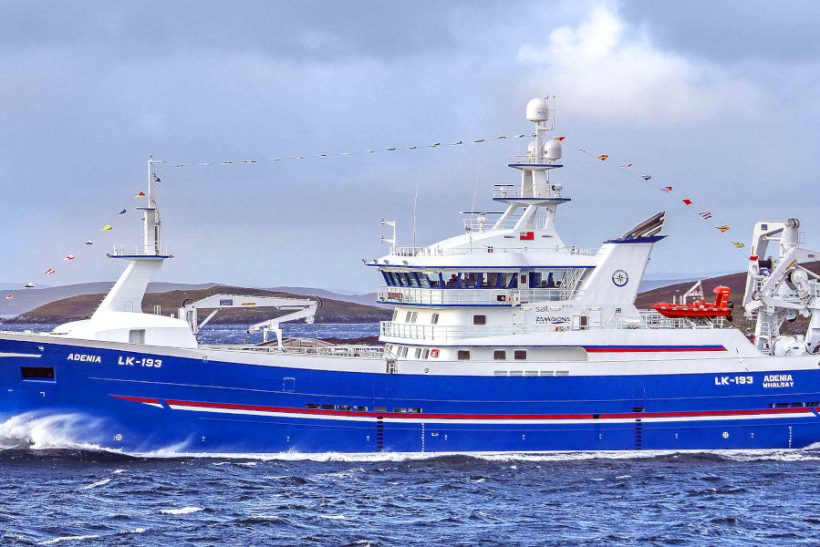 ADENIA: New Whalsay midwater trawler designed to deliver optimum-quality pelagic fish (Photo: Ivan Reid)