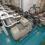 Electro-hydraulic pumps for the deck machinery are housed in a dedicated room on the main deck.