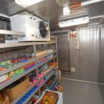 … and chilled dry provisions room, which leads to walk-in refrigerated and freezer rooms.