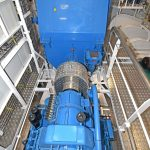 … and Brunvoll Volda 7.28:1 reduction gearbox and Nidec Leroy-Somer 2700ekW shaft generator.