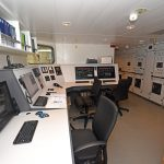The engine control and electrical switchboard room.
