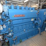 Two Yanmar auxiliary engines drive 800ekW Taiyo 440/3/60 generators.