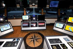 Two views of Adenia's wheelhouse…