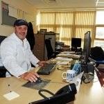 Barry Young at the helm at Brixham Trawler Agents.