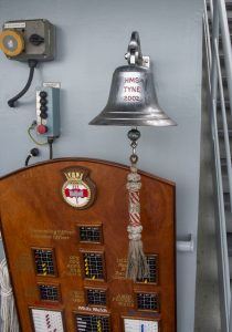 The bell on HMS Tyne.