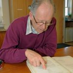 The South Western FPO was formed in 1974, becoming the second PO in the UK. Here, Jim studies the original minutes of the first meeting.