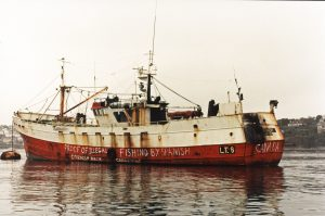 The Blenheim case angered many local people, and even before the court case, protests were daubed over the boat.