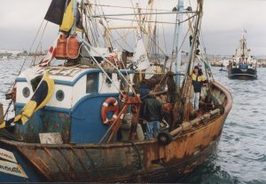 The 1993 Plymouth harbour blockade, in which around 150 fishing vessels were involved. Although each skipper was issued with a summons, none were prosecuted.