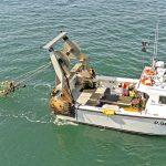Jenny G hauling her twin-rig trawl gear.