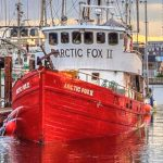 Arctic Fox II berthed on Fishermen's Wharf, Victoria, British Columbia.