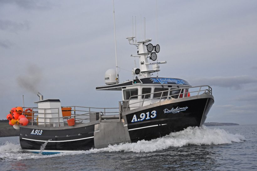 Dalwhinnie – Stonehaven shellfish skipper takes delivery of high-spec 14.6m crabber from Kilkeel boatbuilder
