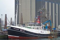 Opportune berthed at Peterhead last week, after being re-registered HL 6. (Photo: Ryan Cordiner)
