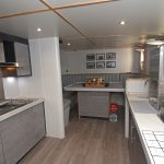Two views of the stylish galley…