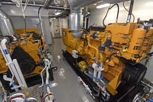 Two of Zephyr's six Caterpillar gensets, supplied by DH Marine (Lerwick) Ltd…