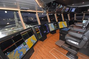 H Williamson & Sons Ltd supplied and installed the wheelhouse electronics, including a five-screen-display video wall.