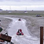 A majority of Thames cockle boats work from Leigh-on-Sea, which has a narrow channel…