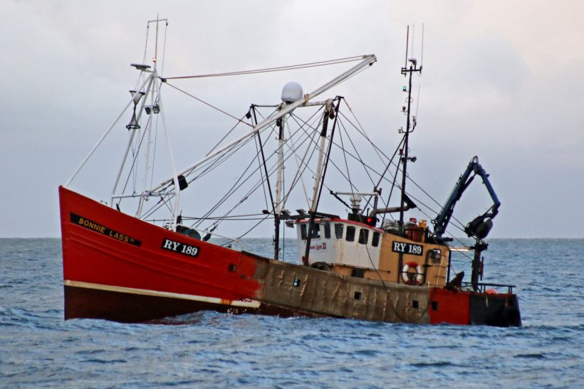 Isle of Man scallopers in action at start of Manx king scallop fishery