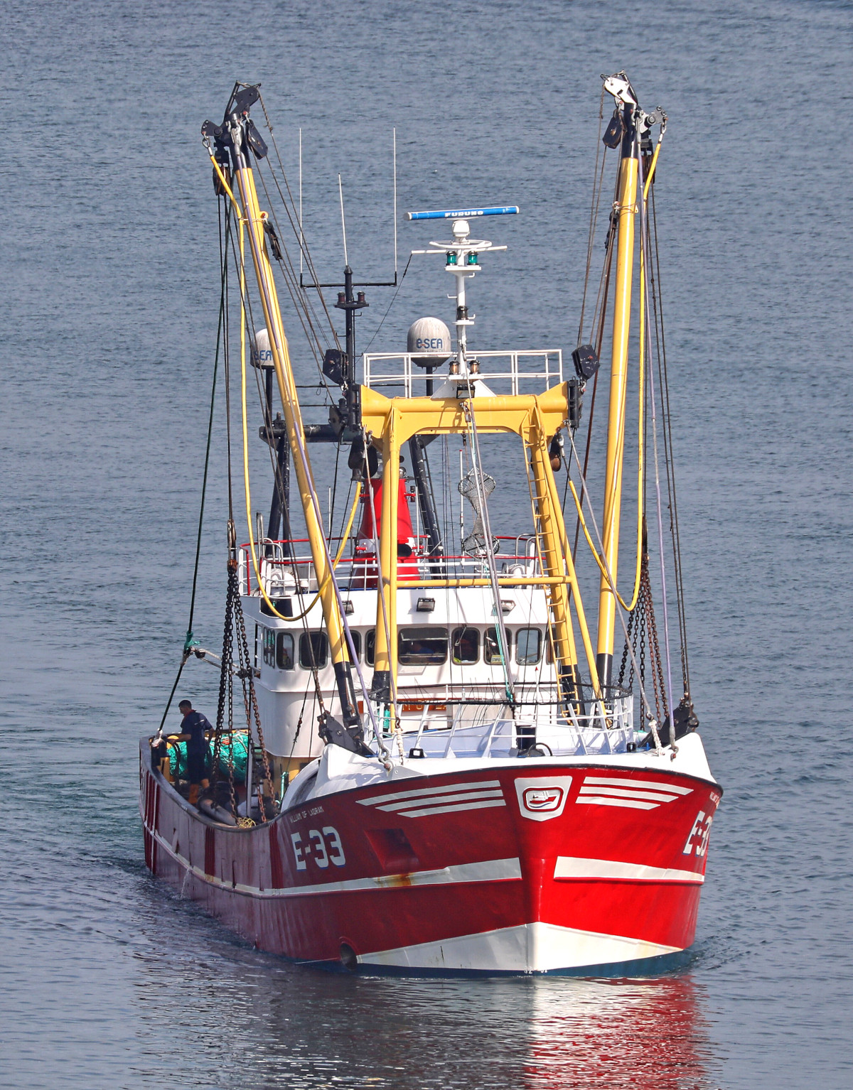 William of Ladram returning to Brixham at the end of another beam trawling trip. (Alan Letcher)