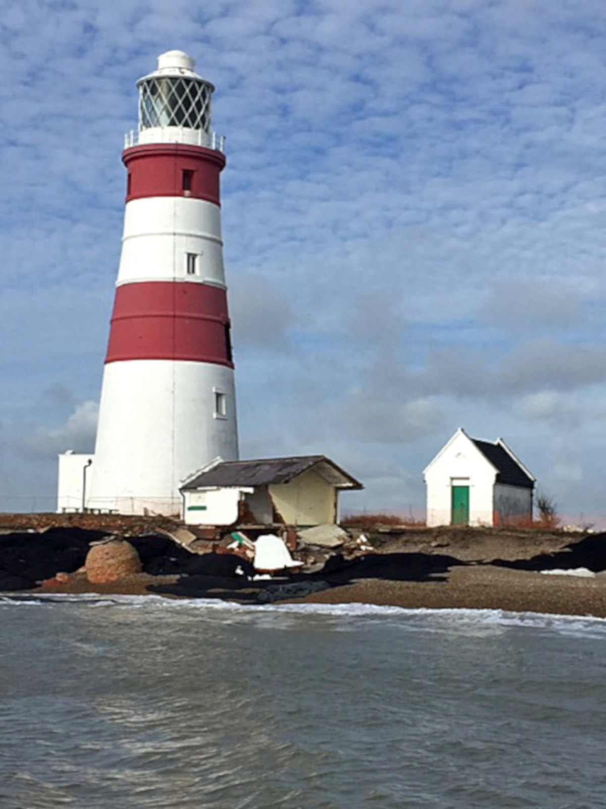 Continuing coastal erosion at Orford Ness. (Adrian Moss)