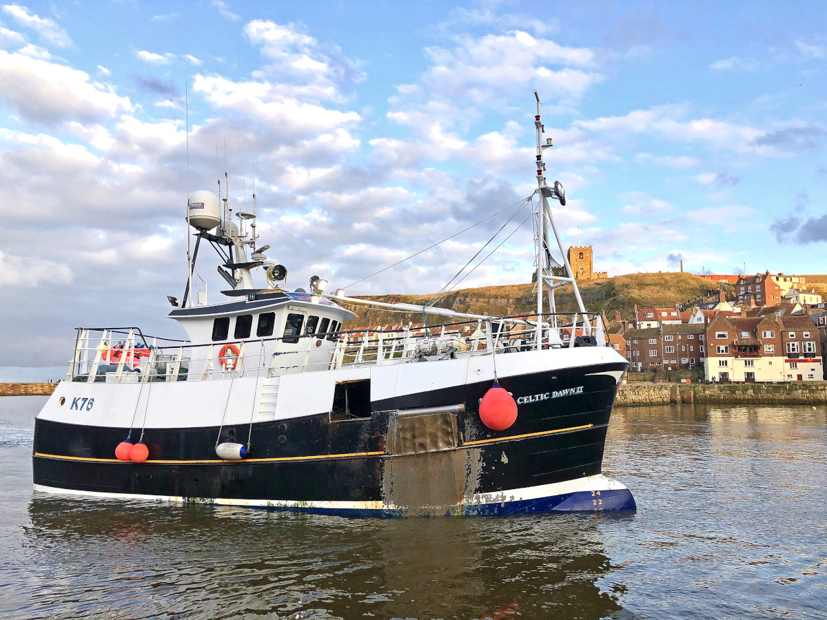 The vivier-crabber Celtic Dawn II at Whitby. (Mick Bayes)
