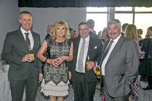 Guests relax during the hastily rearranged drinks reception at the Fishing News Awards 2019…