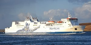 The Northlink ferry Hrossey was a regular mode of transport in late September and early October.
