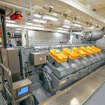 Charisma's MAN main engine develops 7,200kW @ 750rpm.