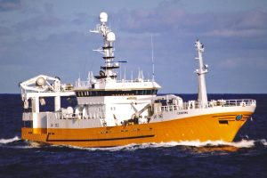 Simek AS built the 57.7m Charisma at Flekkefjord in 1995.