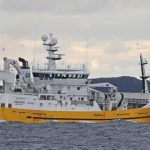 The 71m Charisma away to land a good shot of mackerel, taken north of Skerries.