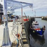Solent's popular quayside unloading davits are a quality build and have been designed to take a heavy load.