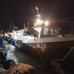 An early start as Steve Eason prepares for a day's fishing from Brighton Marina.