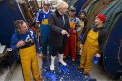 Boris Johnson met crew aboard Opportunus IV PD 96 during a visit to Peterhead in September. (Photo: Getty)