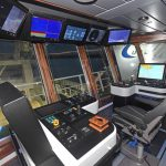 The aft trawl console.