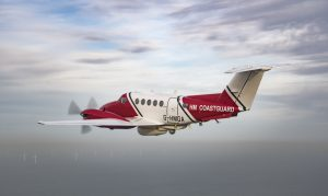 The new Beechcraft Super King Air B200 G-HMGA on patrol.