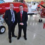 Matt Tones, head of surveillance at 2Excel, left, and Michael King, aviation technical lead at the MCA.