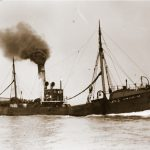 Skipper Oliver took command of Lord Wolseley H 263 in 1911, after completing his training to serve as a skipper in the newly formed minesweeping section of the Royal Naval Reserve – the first Hull skipper to do so. He stayed in her until August 1912, when he took command of a new vessel, Lord Nunburnholme.